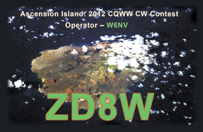 Остров Вознесения ZD8W QSL