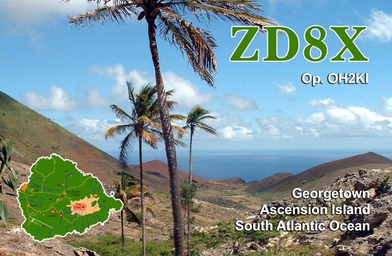 Остров Вознесения ZD8X QSL