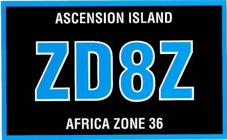 Остров Вознесения ZD8Z 2013