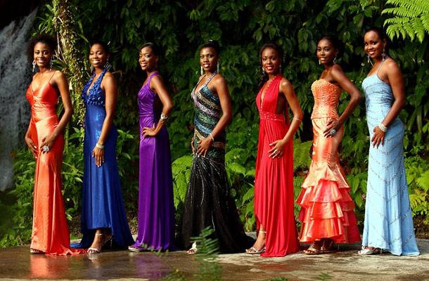 Остров Доминика Карнавал J73A Конкурс королевы карнавала