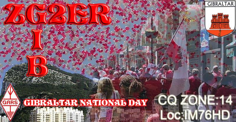 Гибралтар ZG2ER Национальный День Гибралтара