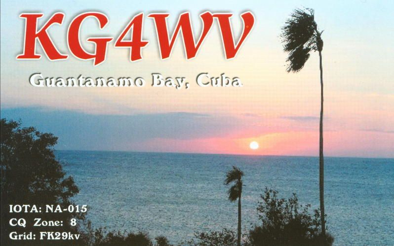 Guantanamo Bay KG4WV 2014