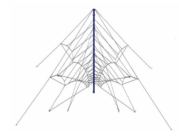 КВ Логопериодическая Антенна Широкополосная 2-30 Мгц Зенитного Излучения NVIS