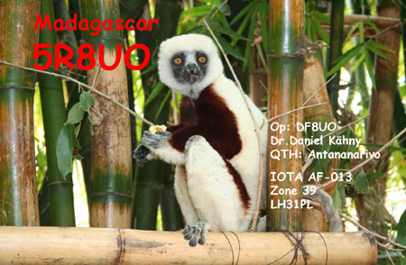 Остров Мадагаскар 5R8UO 2013
