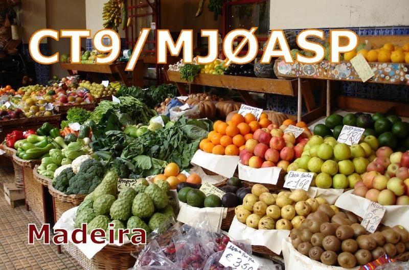 Остров Мадейра CT9/MJ0ASP