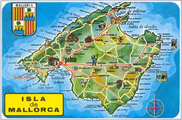 Остров Майорка Балеарские острова EA6/G4MKP DX Новости Карта