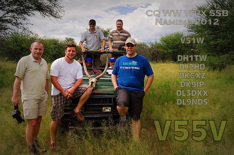 Намибия V55V V5/DK9IP DX Новости Сафари