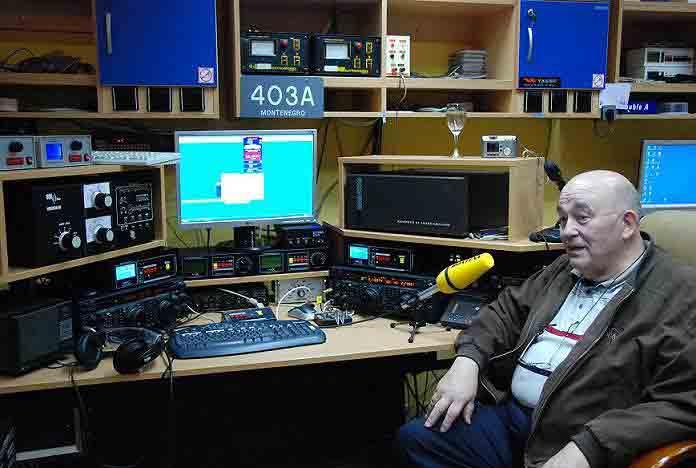 Джон ON4UN в гостях на контест станции 4O3A
