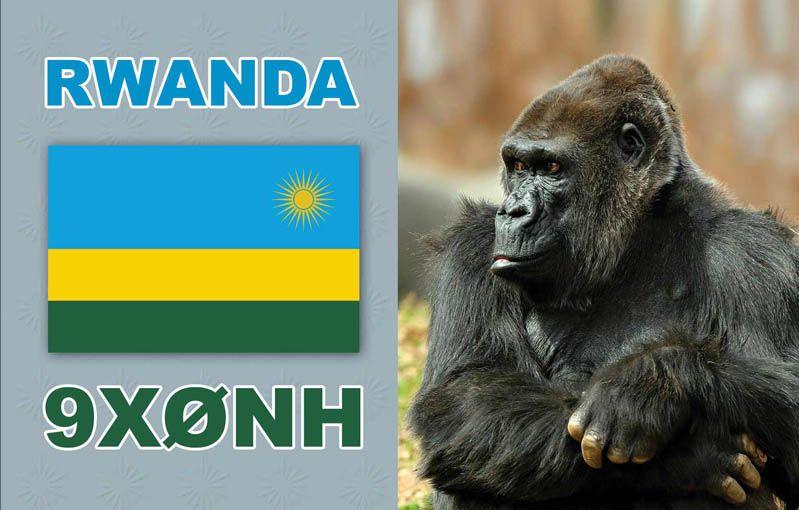 Руанда 9X0NH QSL 2014