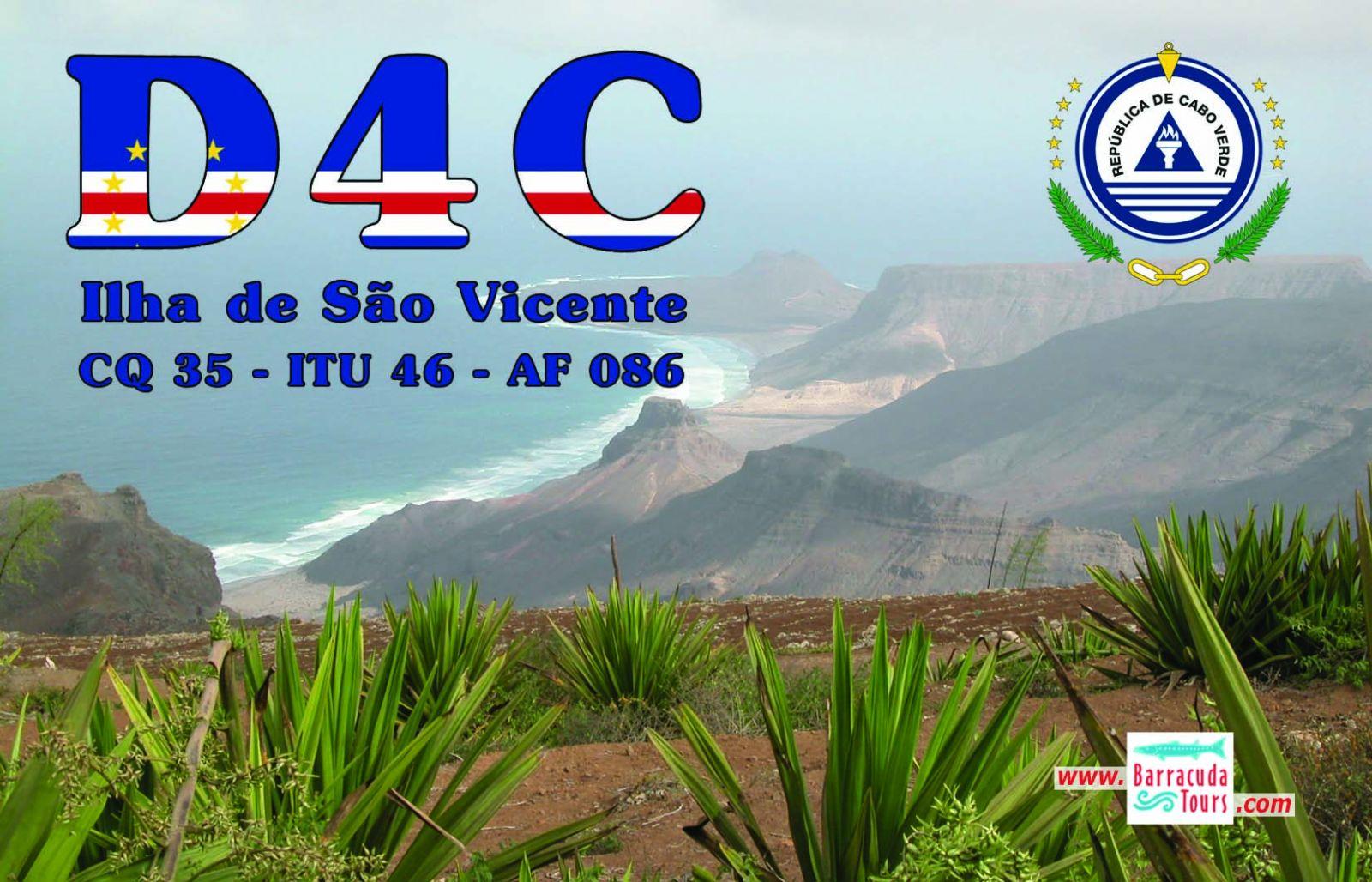 Остров Сао Висенте Кабо Верде Острова Зеленого Мыса D4C QSL