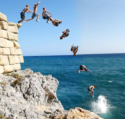 Неудачные прыжки в воду (видео)