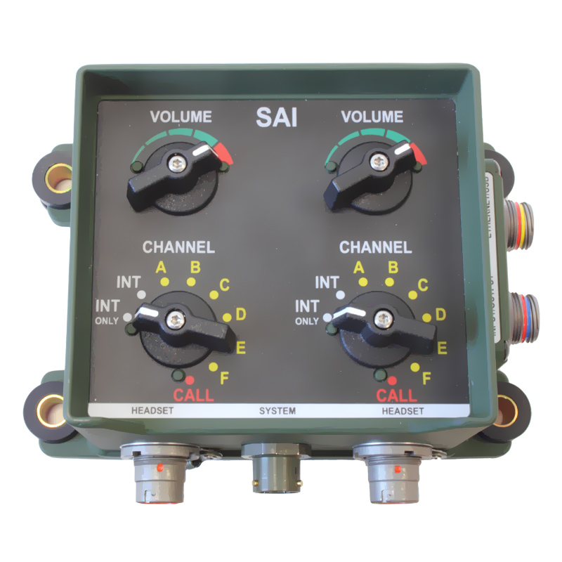 Sophisticated Alarm Interface Military Intercom Systems