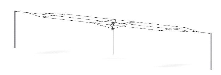 КВ Антенна Codan С463 в горизонтальной конфигурации