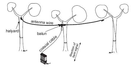 HF Wire Dipole Antenna