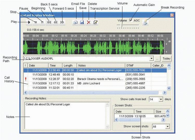 AT USB-Logger Voice Record