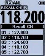ICom - IC-A25NE/CE - Channel Recall