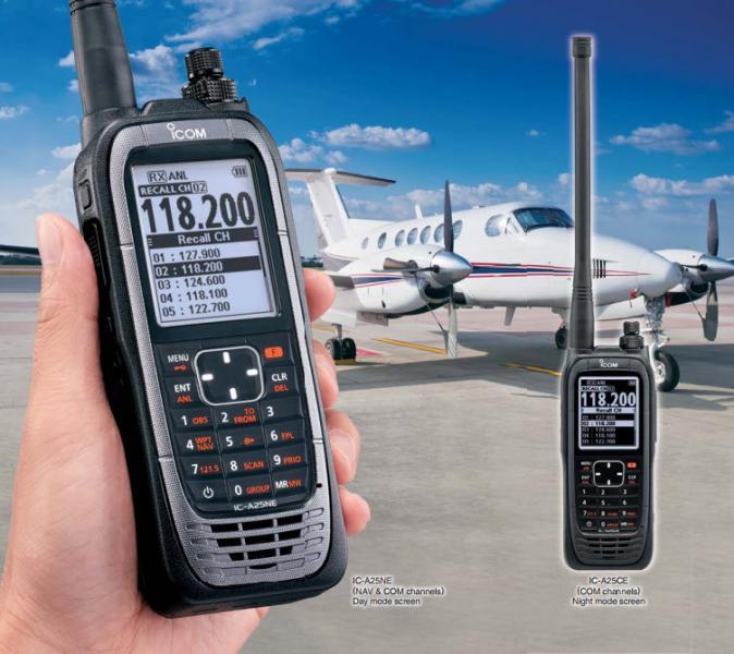 VHF Air Band Radio - ICom - IC-A25NE/CE