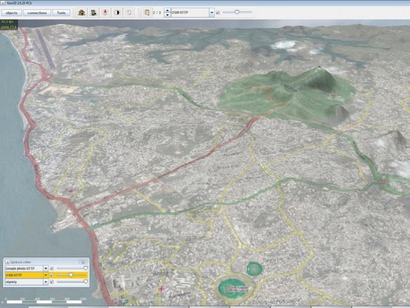 GEO3D Визуализация слои карт