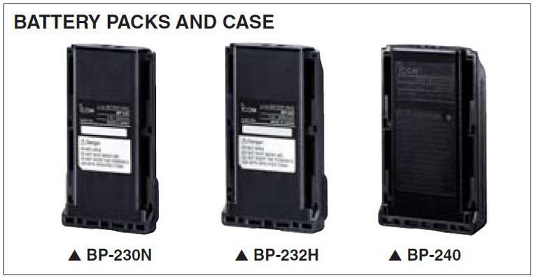 IC-F16/S - Battery Packs