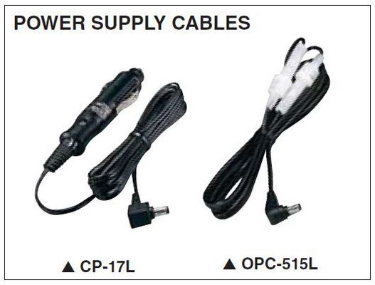IC-F16/S - Power Sullpy Cables - VHF Analog Radio