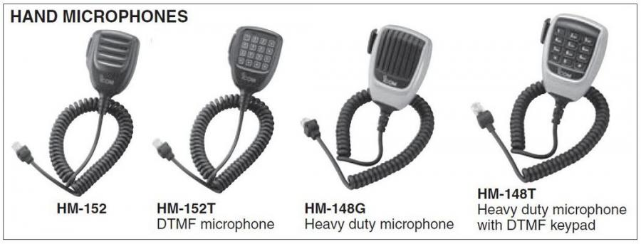 IC-F5013/H - Hand Microphones