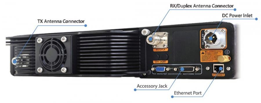 RD98XS 100W High Power Repeater Rear