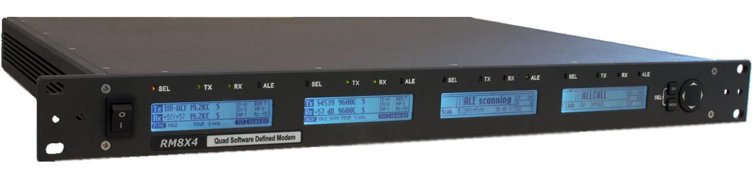 RM8X4 Quad Software Defined HF VHF High Speed Data Modem