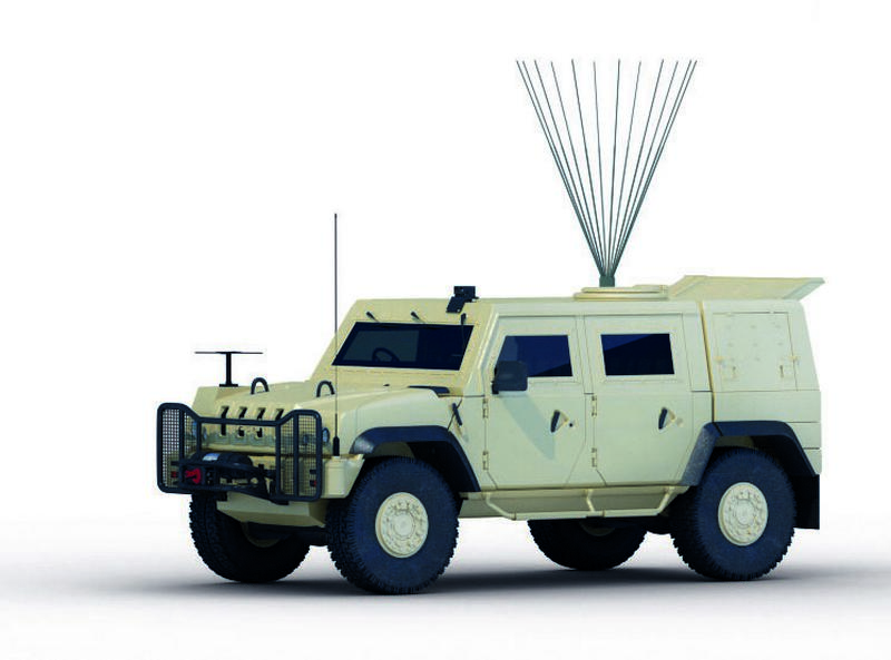 VHF UHF Jammer Vehicle